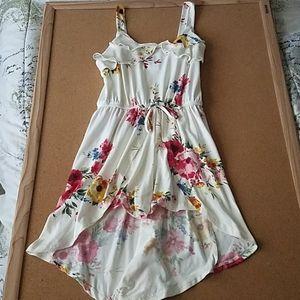 Kids floral romper/ dress medium